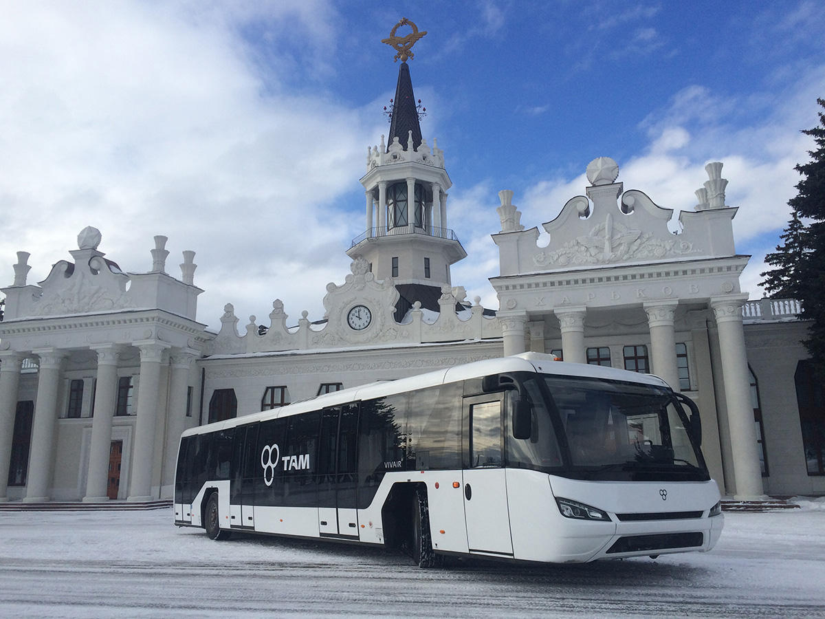 New apron buses at Kharkiv International Airport